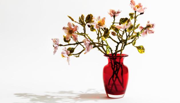 Лілла Табассо. Скляні квіти в осіннім пейзажі