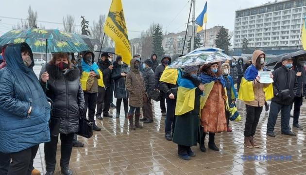 У Запоріжжі пройшла акція на підтримку Стерненка