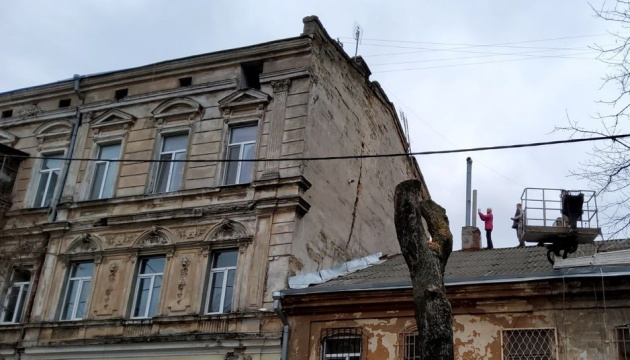 У центрі Одеси через тріщину в історичному будинку евакуюють мешканців