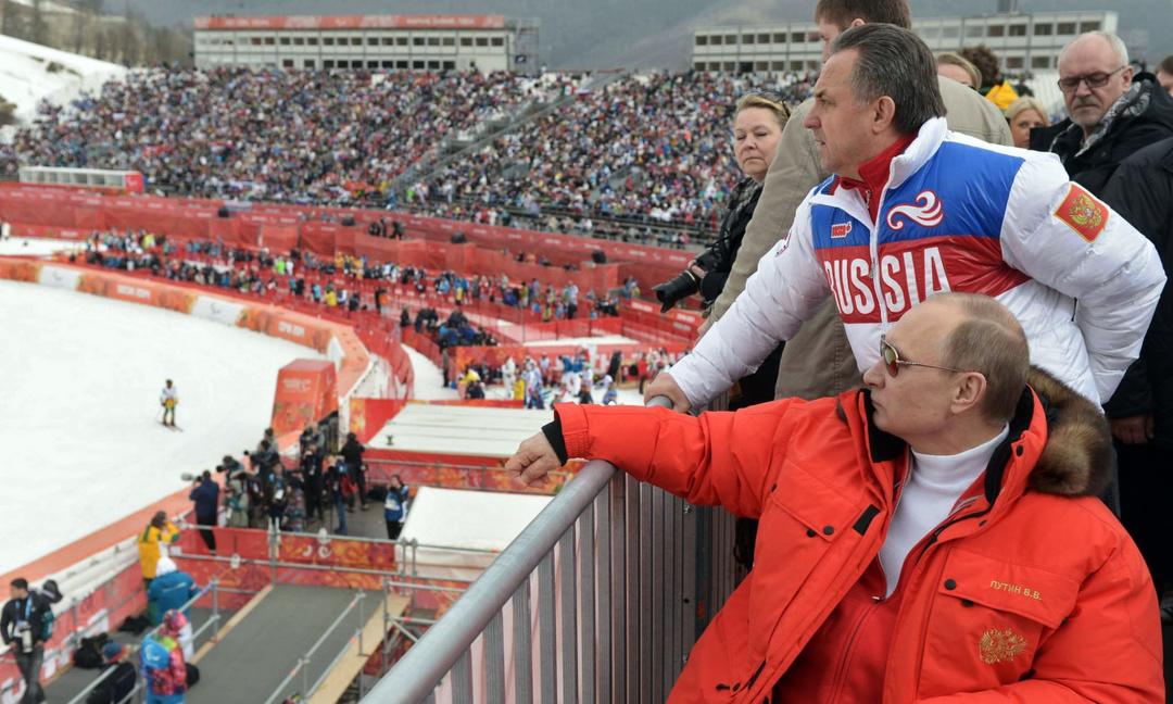 На одній з трибун Сочинської Олімпіади