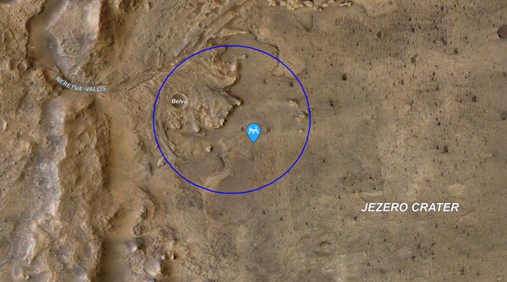 Український розробник Володимир Агафонкін створив технологію Leaflet, за якою NASA тепер відстежує марсохід Perseverance (на карті він позначений краплиною голубого кольору).