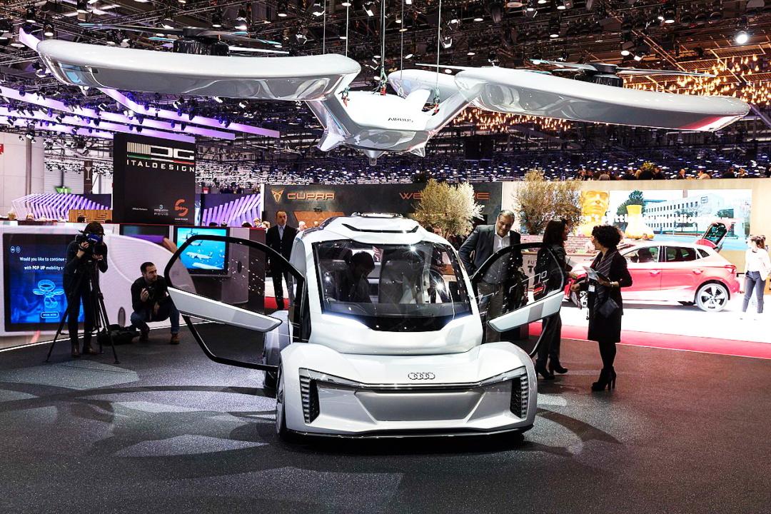 """концептуальний безпілотний літаючий електромобіль """"Audi Pop.Up Next"""""""