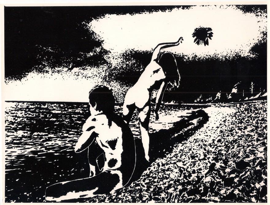 Юрій Рупін. Двоє біля моря, 1975 рік