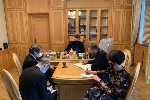 ダニーロウ安保会議書記、日本の北村滋安保局長と電話会談