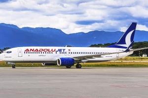 Турецкий лоукост AnadoluJet будет летать в Киев 4 раза в неделю