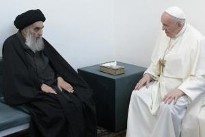 Папа Франциск зустрівся з великим аятолою Іраку