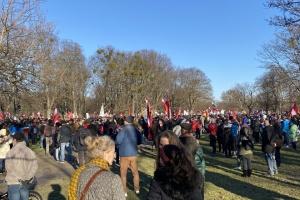 На антикарантинный протест в Вене вышли тысячи людей