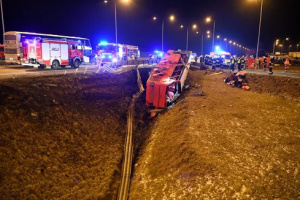 Авария автобуса в Польше: девять украинцев в тяжелом состоянии