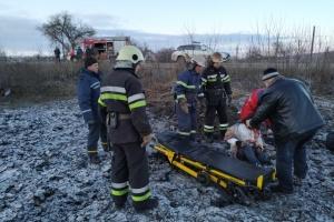 На Харківщині перекинувся мікроавтобус, є загиблі і травмовані