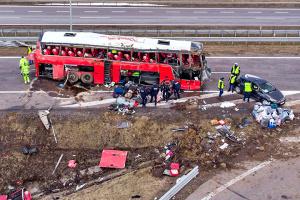Всіх постраждалих в ДТП автобуса у Польщі виписали з лікарні