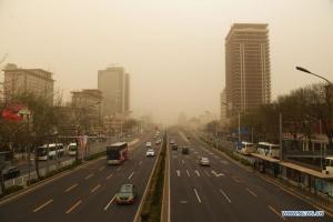 Пекин в очередной раз накрыла песчаная буря