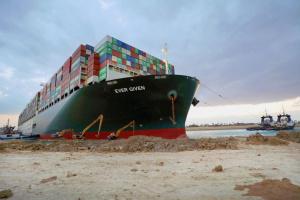 Єгипет заарештував судно, яке блокувало Суецький канал