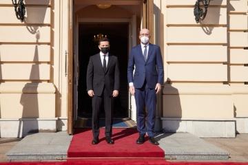 Zełenski i Michel przeprowadzili wspólną konferencję prasową