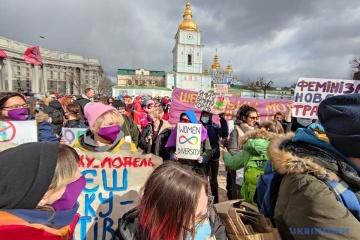 Women's March taking place in Kyiv