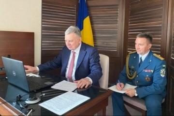 Defense ministers of Ukraine and Japan meet online