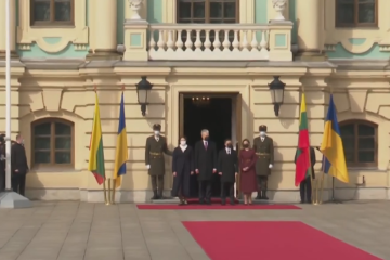 Selenskyj empfängt litauischen Präsidenten im Marienpalast