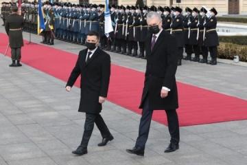 Zelensky, Nausėda meet at Mariinsky Palace