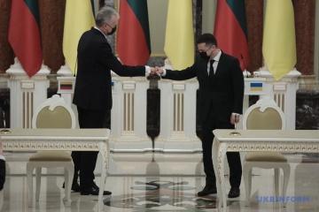 ゼレンシキー大統領、リトアニア大統領と会談