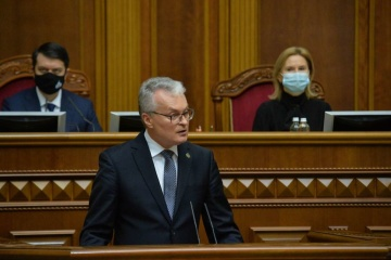 Gitanas Nausėda s'est adressé au peuple ukrainien lors de son discours à la Verkhovna Rada