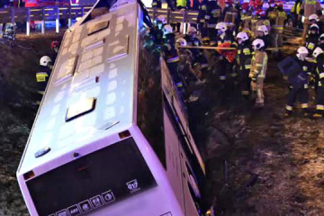At least one killed, four injured in Ukrainian bus crash in Poland