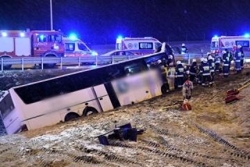 Cónsul de Ucrania va al lugar del accidente del minibús en Polonia