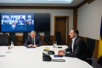 Jermak erörtert mit G7-Botschaftern Sicherheitslage in der Ostukraine
