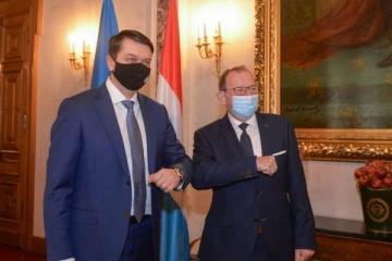 Rasumkow trifft sich mit Parlamentspräsident Luxemburgs Etgen