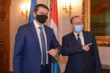 Razumkov: Ucrania agradecida a Luxemburgo por su firme postura sobre la agresión armada de Rusia