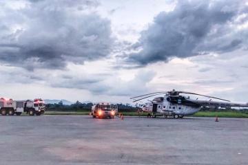 Helicópteros ucranianos evacuan a los soldados gravemente heridos en el Congo