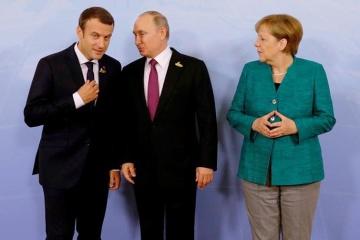 Merkel, Macron call on Putin to help stabilize situation in eastern Ukraine