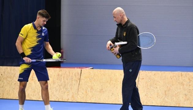 Збірна України розпочала підготовку до матчу Кубка Девіса проти Ізраїлю