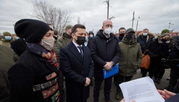 Zelensky, Michel meet with representatives of international humanitarian missions in Donbas