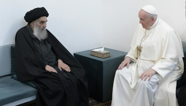 Папа Франциск встретился с большим великим аятоллой Ирака