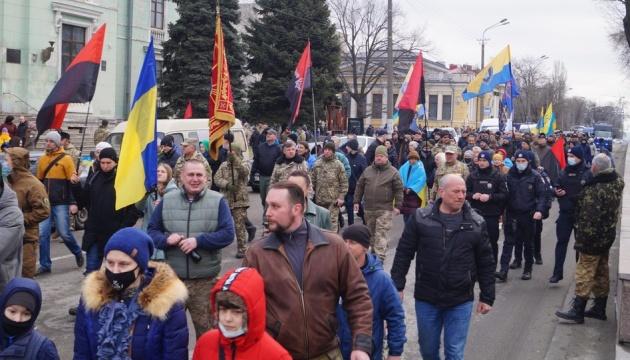 Марш добровольцев прошел в Днипре