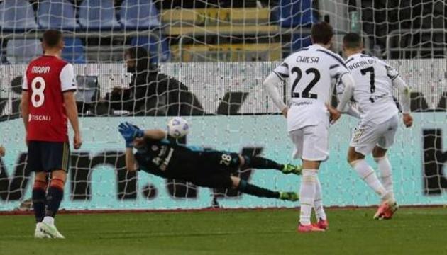 Серія А: Хет-трик Роналду допоміг «Ювентусу» перемогти «Кальярі»