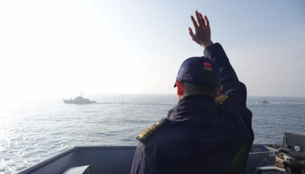 Ukraińska marynarka wojenna prowadziła szkolenia z okrętami NATO na Morzu Czarnym