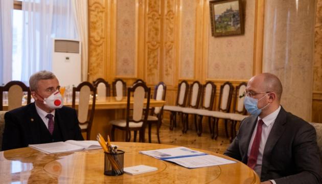 Шмигаль зустрівся з президентом Національної академії наук