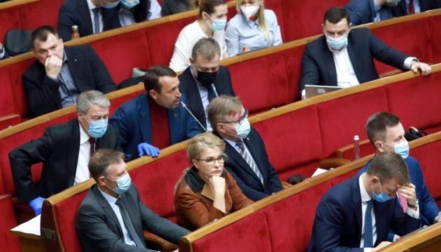 Разумков открыл Раду, в зале - 223 народных депутата