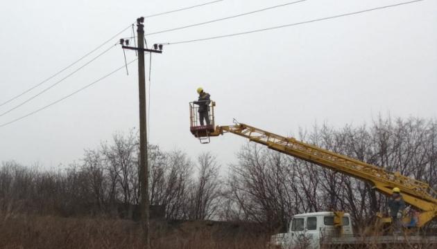 На Донеччині відновили енергопостачання населених пунктів, знеструмлених через негоду