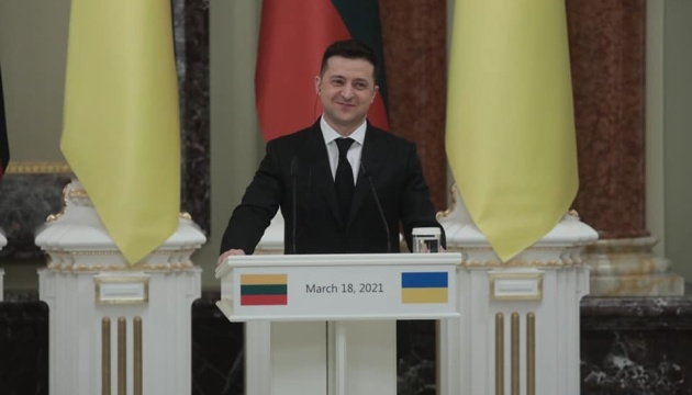 Zelensky thanks Lithuania for opposing Nord Stream 2 project