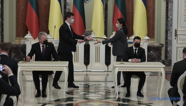 Зеленський і Науседа підписали декларацію про європейську перспективу України
