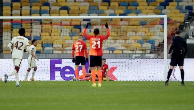 «Шахтер» проиграл «Роме» и завершил выступление в Лиге Европы УЕФА