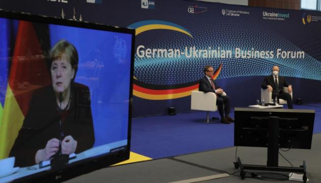 Ukraine ist für Deutschland als Handelspartner und Investitionsstandort wichtig: Merkel beim 4. Deutsch-Ukrainischen Wirtschaftsforum.