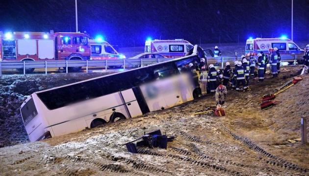 На місці ДТП з українськими автобусами у Польщі встановлять знак про небезпеку