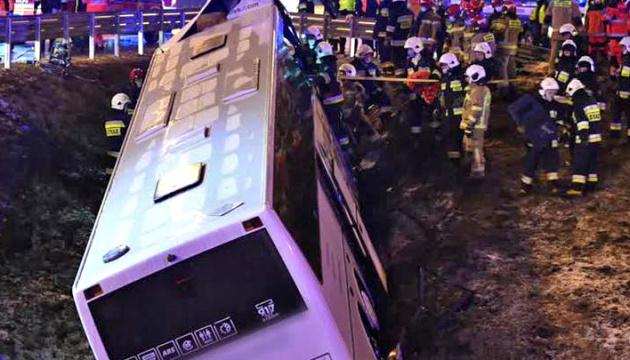 Польська поліція повідомила деталі ДТП з українським автобусом, що сталася вночі