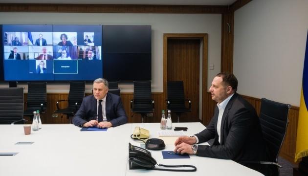 Yermak trata con los embajadores del G7 y la UE la situación en el Donbás