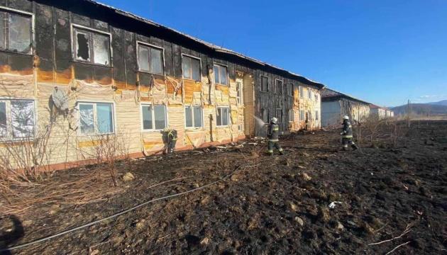 Пожежа в Тереблі: Нежилий житловий комплекс