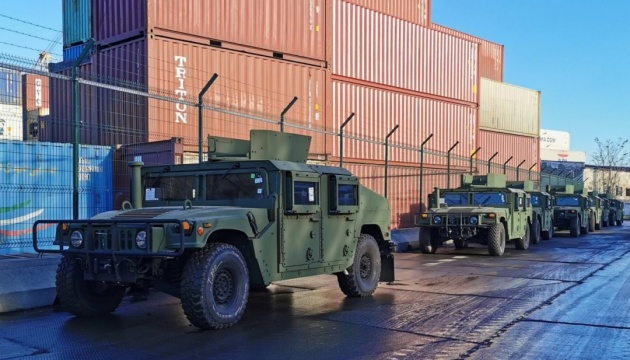 Another batch of 35 Humvee vehicles arrives in Ukraine from U.S.