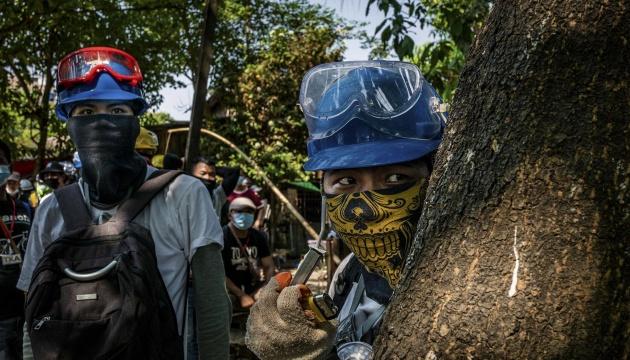 У М'янмі під час суботніх протестів убили щонайменше п'ятьох людей