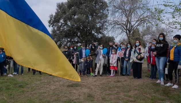 У Барселоні до Дня Незалежності України висадили сад